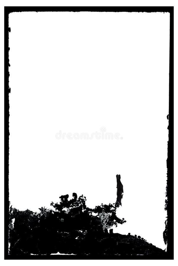 Grungy Antieke Negatieve Frame van de Foto vector illustratie