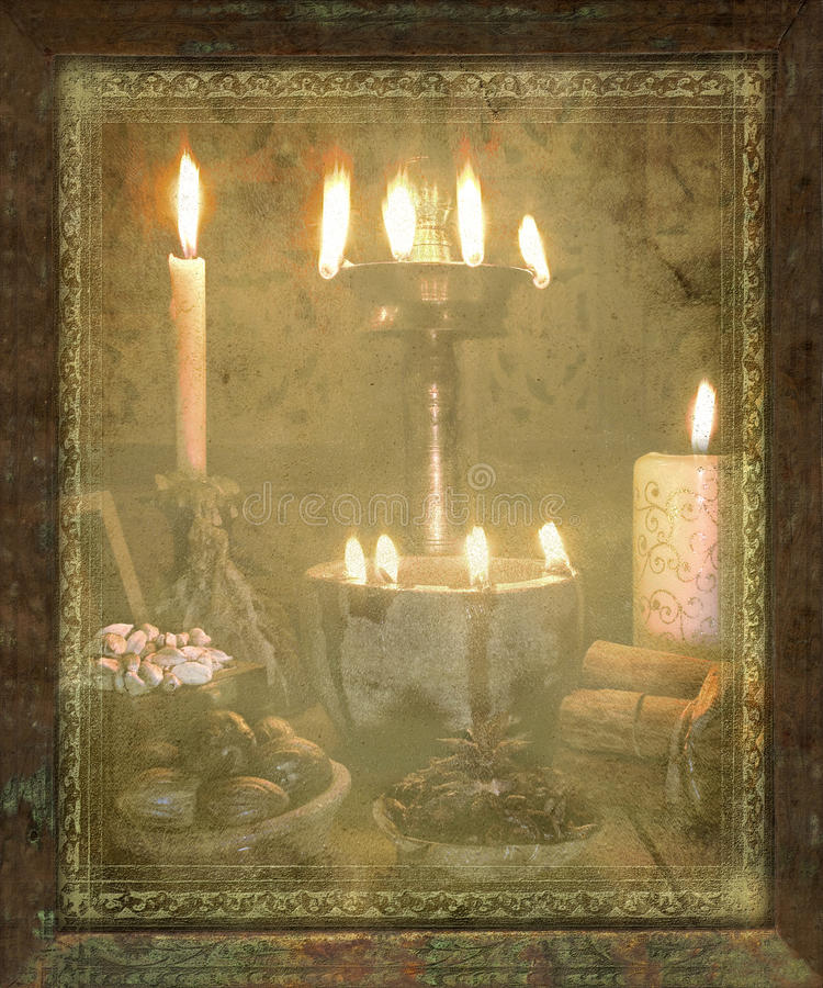 Download Grungy Antique Christmas Spice Scene Stock Image - Image: 12135515