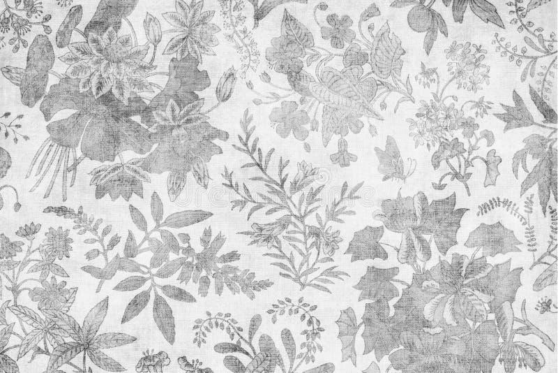 Grungy antique damask floral background royalty free illustration