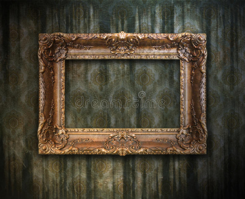 Grungy antique frame royalty free stock photo