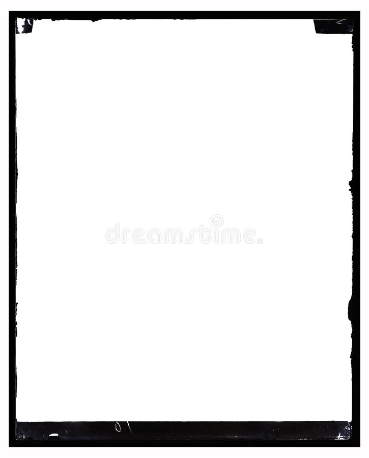 Download Grungy Antique Negative Photo Frame Stock Illustration - Image: 12452390