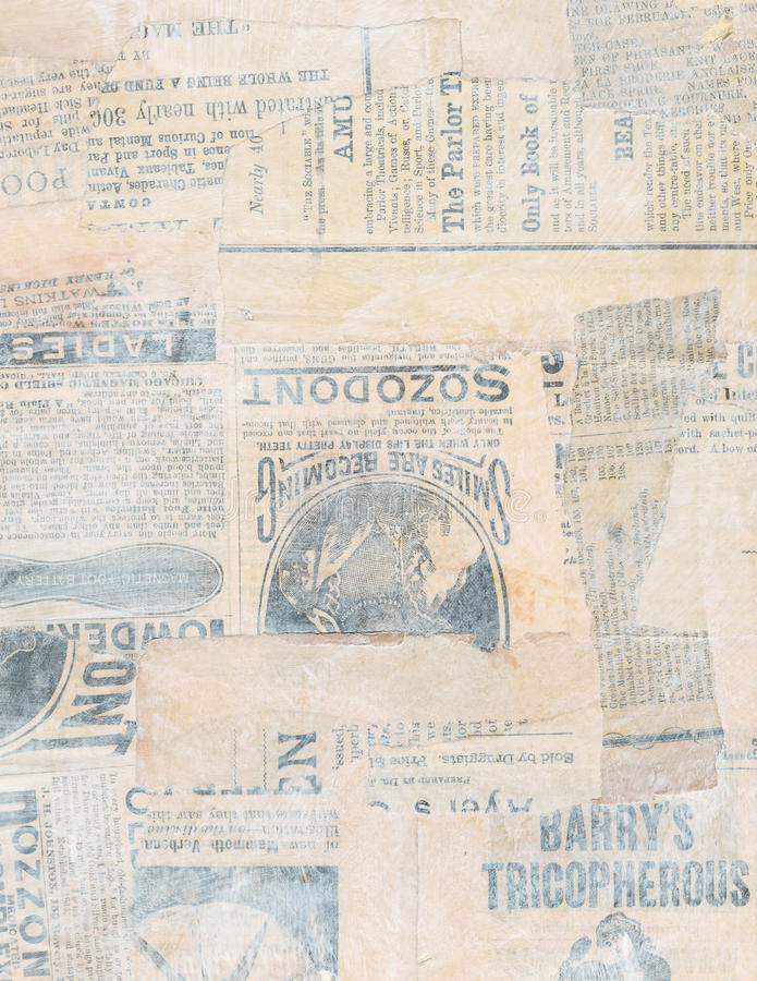 Free Grungy Antique Newspaper Paper Collage Royalty Free Stock Images - 27842929
