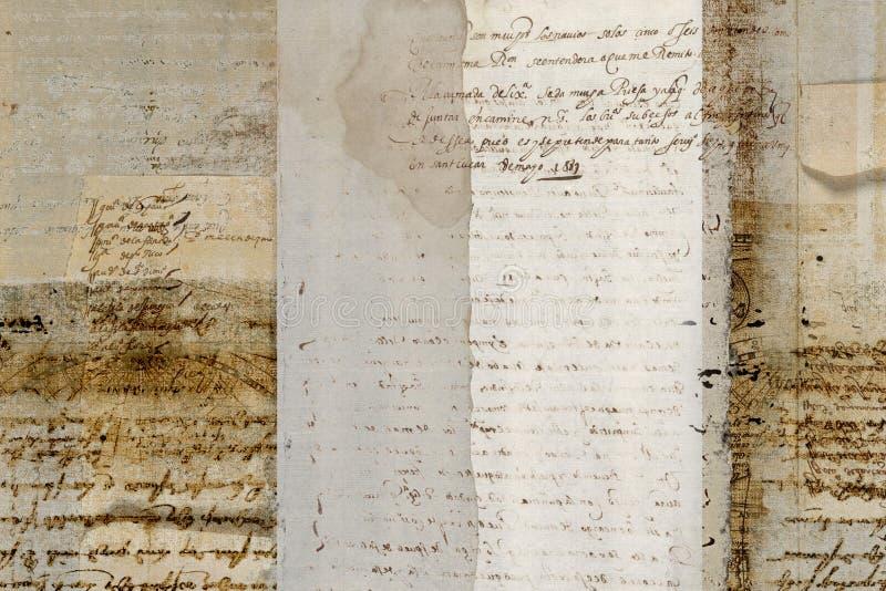 Grungy antique parchment background. A grungy antique parchment background with ancient text vector illustration