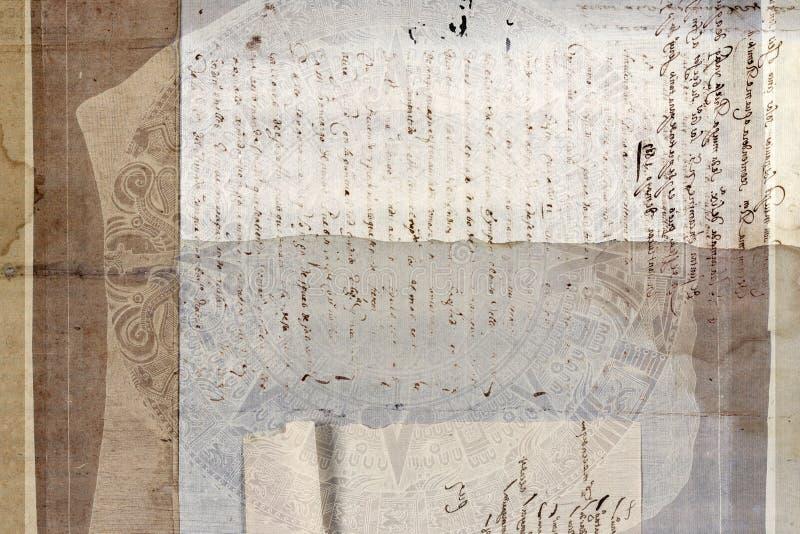 Grungy antique tribal parchment background. A grungy antique tribal parchment background with ancient text vector illustration