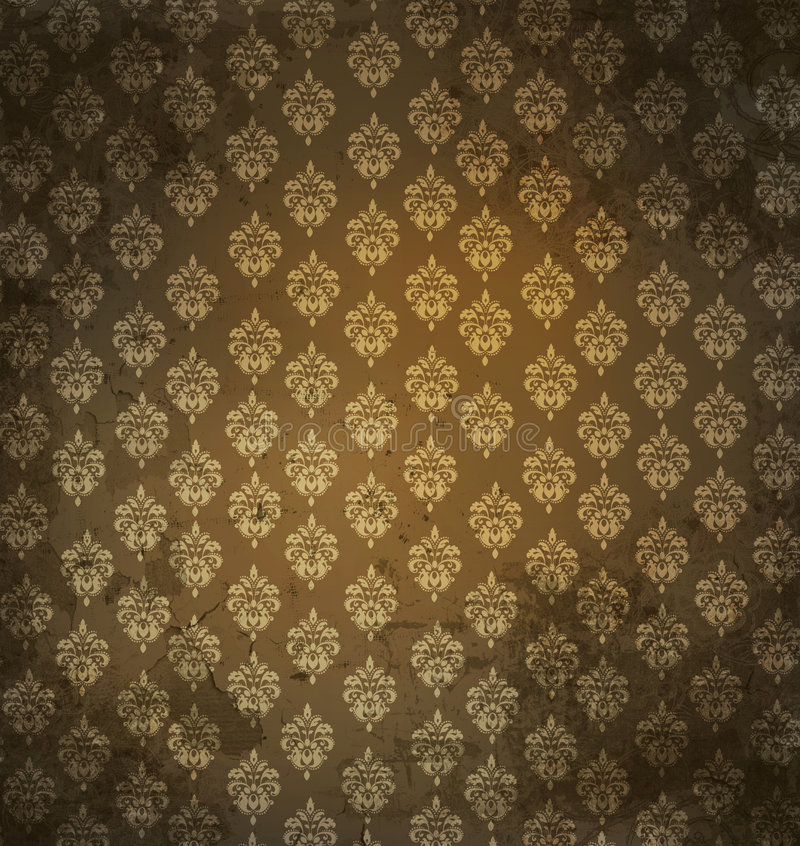 Grungy antique wallpaper stock images