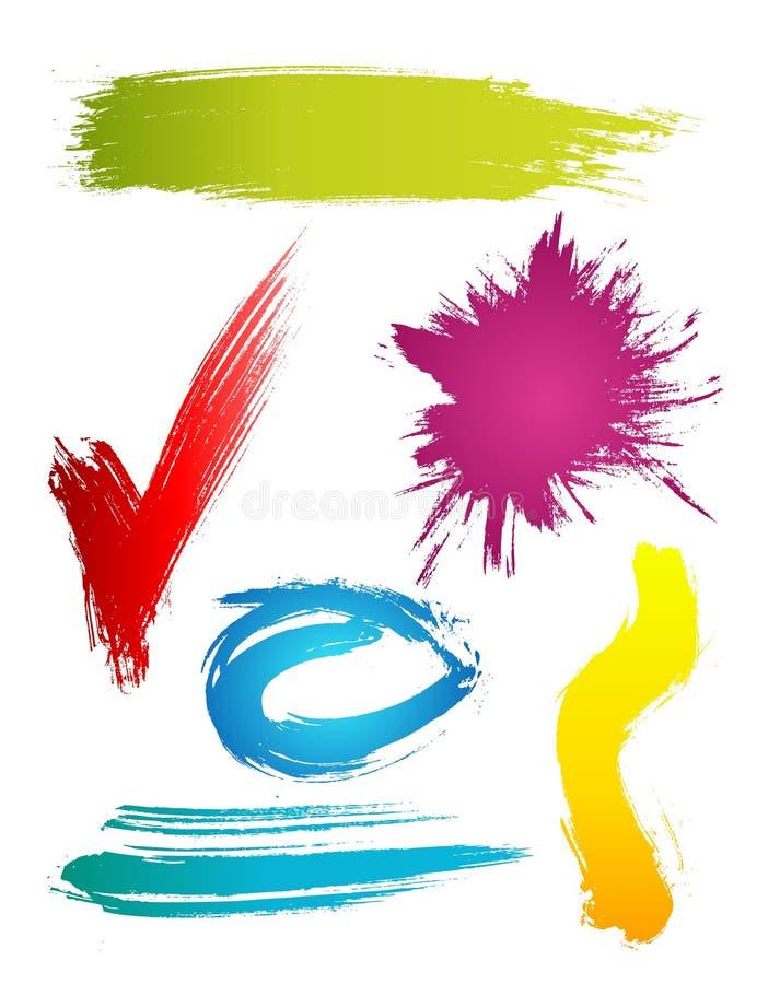 Grungy Auslegungelemente vektor abbildung