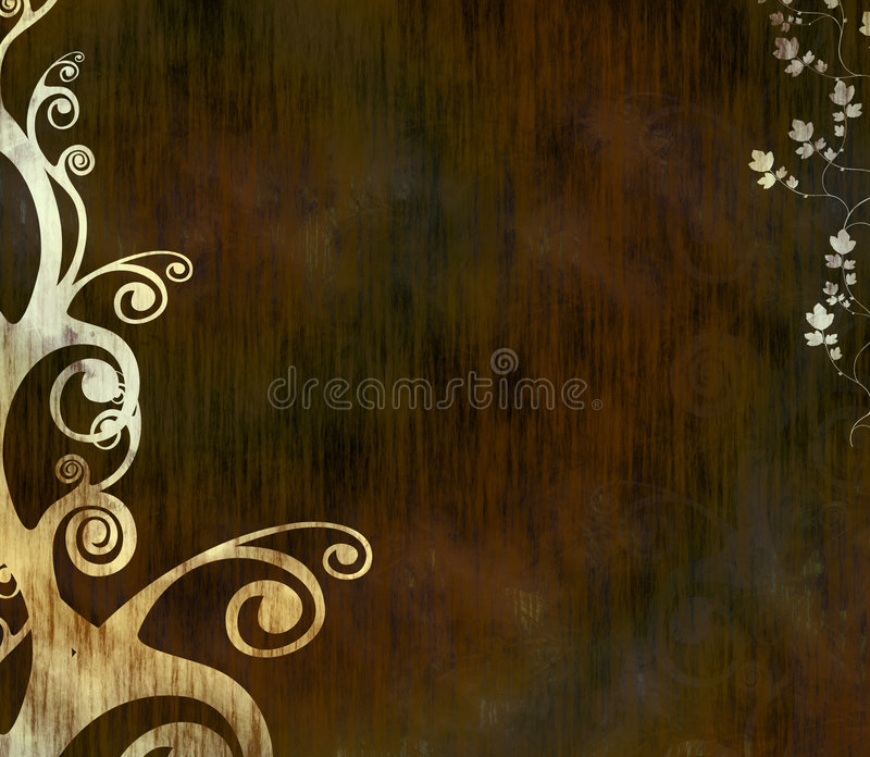 Grungy background with swirls stock illustration