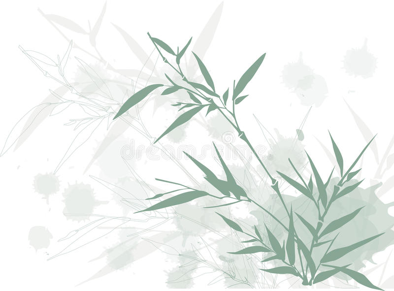 Grungy bamboo background royalty free illustration