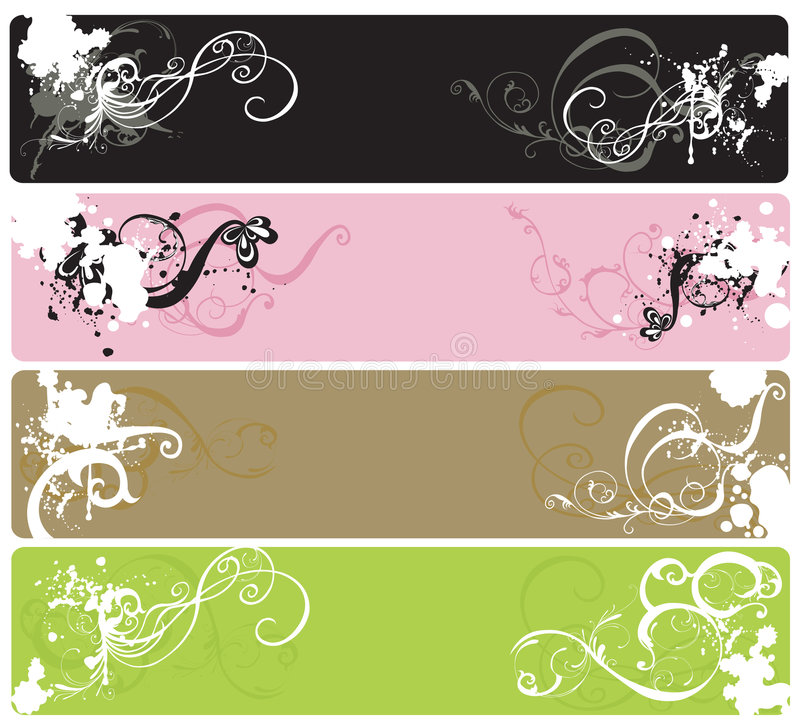 Grungy banners stock illustration