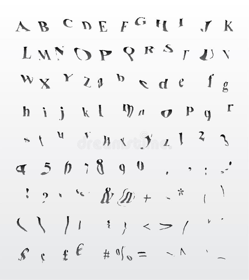 Grungy bend  font