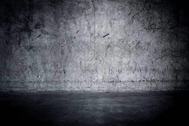 Grungy betongvägg och golv fotografering för bildbyråer