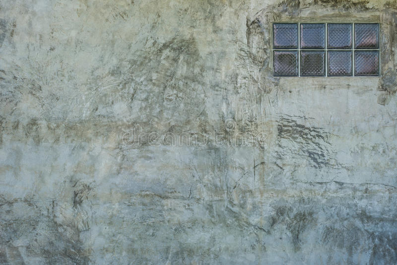 Grungy betonowej tekstury ścienny i szklany blok zdjęcia royalty free