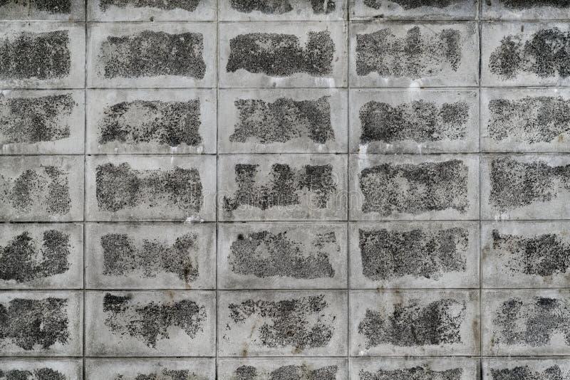 Grungy betonowy blok ściana obrazy royalty free