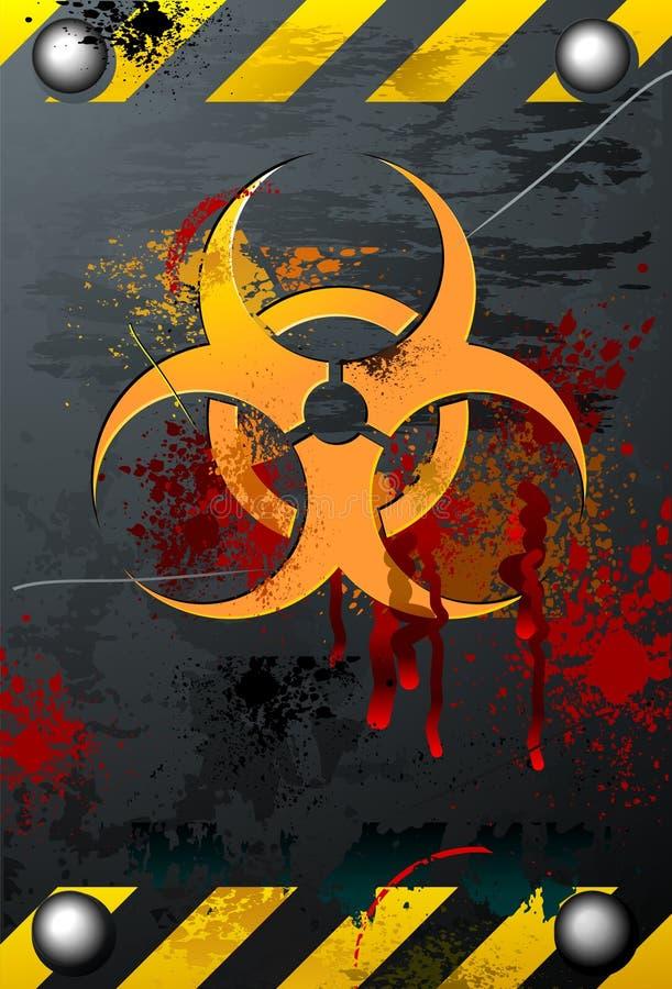 Grungy Biohazard vector illustratie