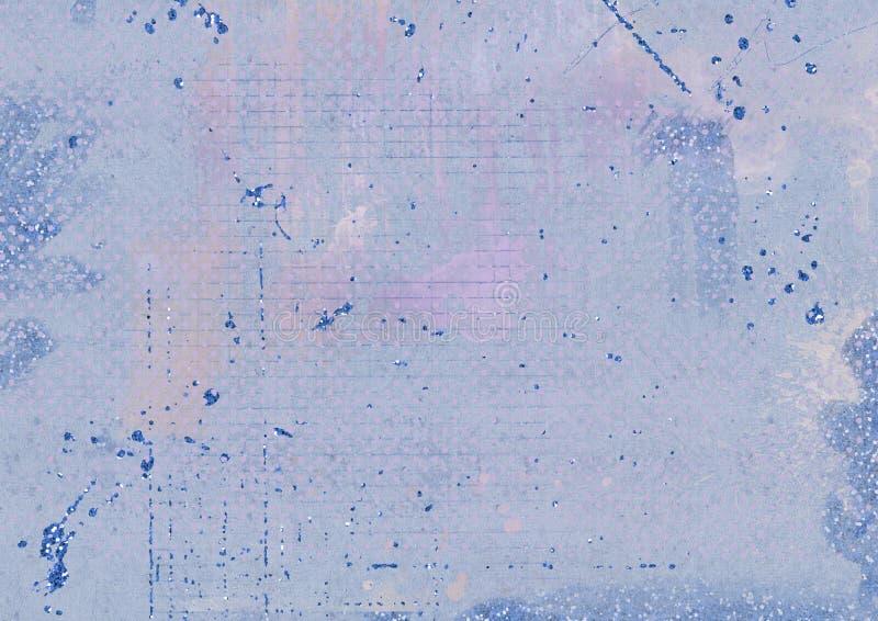 Grungy blauer strukturierter Hintergrund und Funkelneffekt stock abbildung