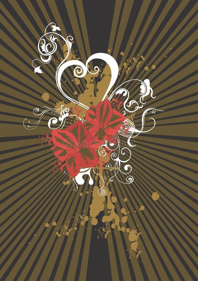 Grungy bloemen royalty-vrije illustratie