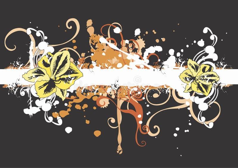 Grungy bloemen vector illustratie