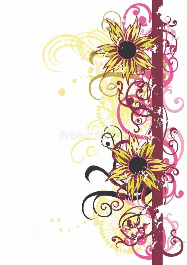 Grungy bloemen stock illustratie