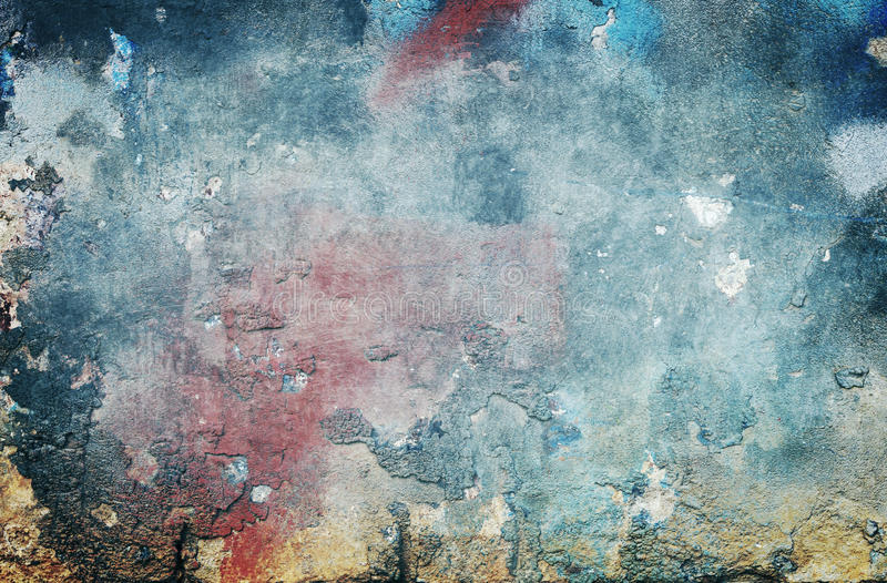Grungy blue background. Grungy old colored wall background or texture royalty free stock photography