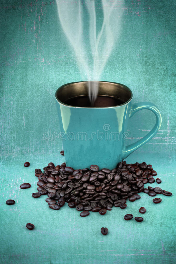 Download Grungy Blue Green Cup Of Coffee Stock Photo - Image: 30502744