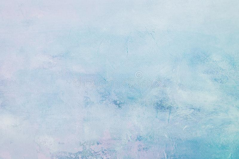 Grungy blue painting background. Abstract pale blue painting detail texture or background stock photography