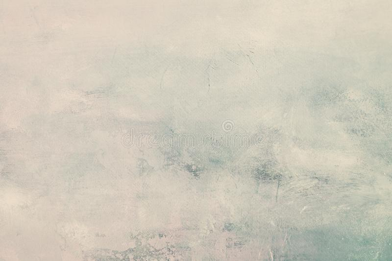 Grungy blue painting background. White blank abstract painting texture or background stock images