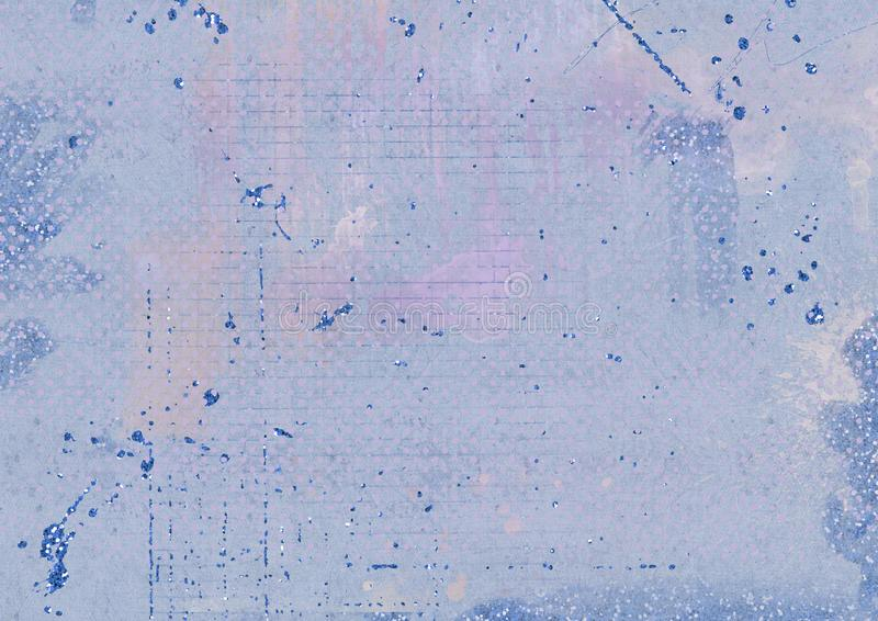 Grungy blue textured background and glitter effect stock illustration