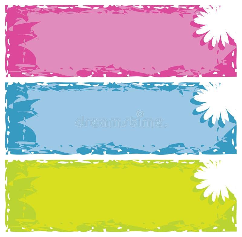 Grungy Blumenfahnen lizenzfreie abbildung