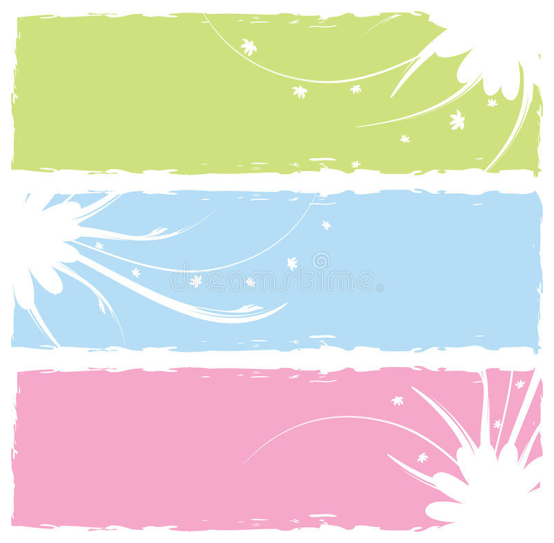 Grungy Blumenfahnen vektor abbildung