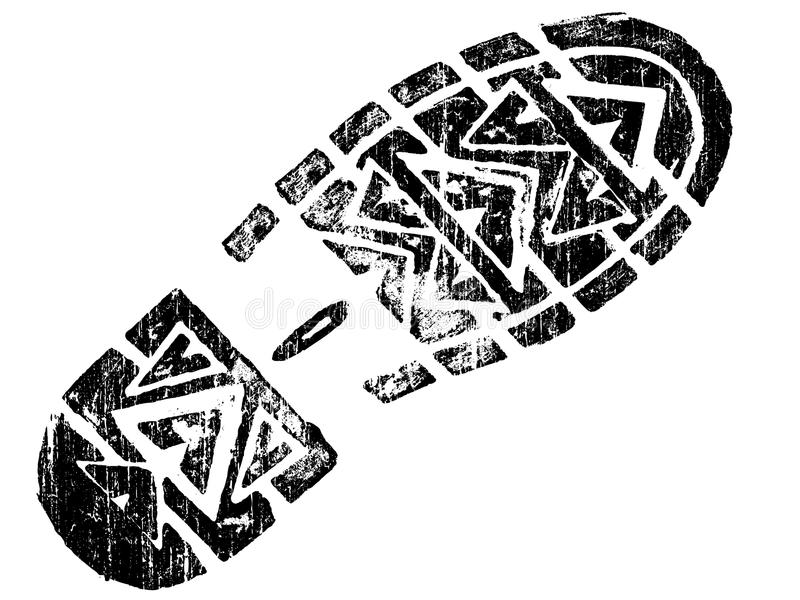 Grungy BootPrint vektor abbildung