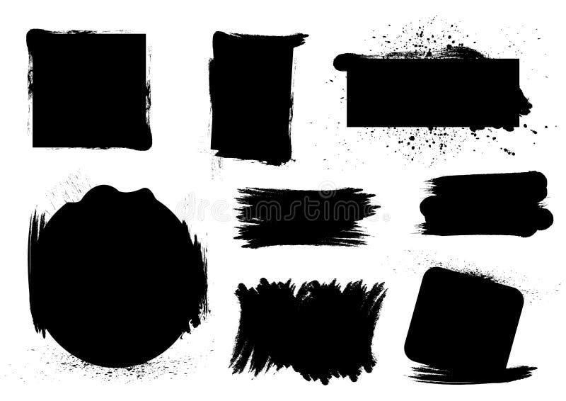 Grungy borstelreeksen stock illustratie