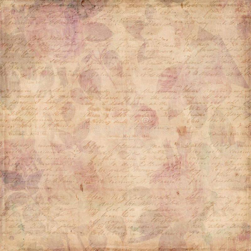 Free Grungy Botanical Vintage Roses Shabby Background Royalty Free Stock Photo - 23162895