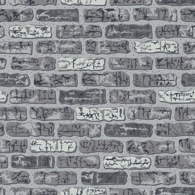 Grungy Brick Pattern In Grey Stock Photos