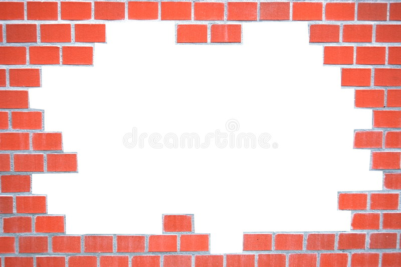 Download Grungy brick wall frame stock photo. Image of bricks, isolated - 8273344