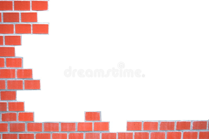 Download Grungy Brick Wall Frame Stock Image - Image: 8273351