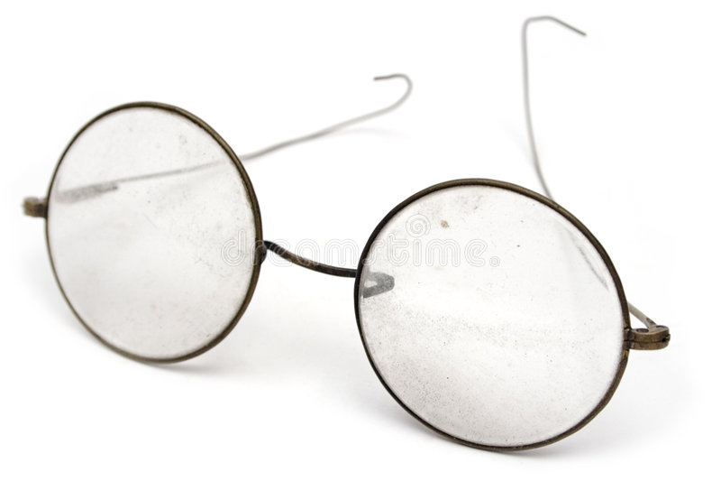 Grungy Brillen stockbild