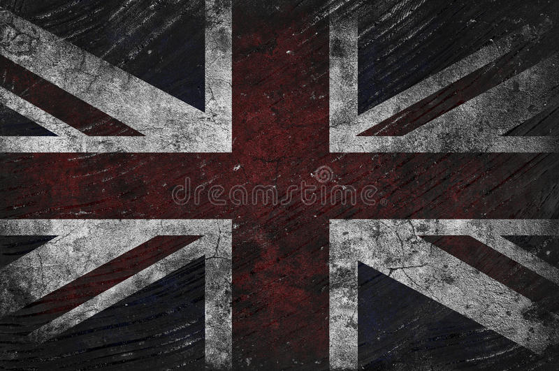 Grungy BRITISCHE Flagge vektor abbildung