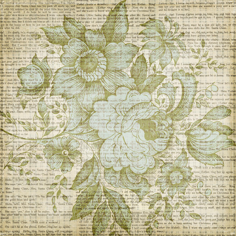 Grungy brown vintage floral texture background. A grungy vintage floral texture background in desaturated browns, blues, greens stock photo