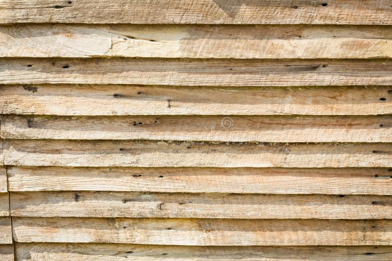 Grungy brown wood plank wall texture background. With shadow royalty free stock image