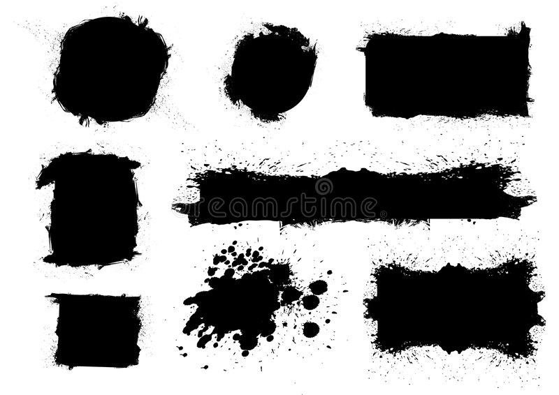 Download Grungy brush sets stock vector. Image of edge, graphic - 7495053