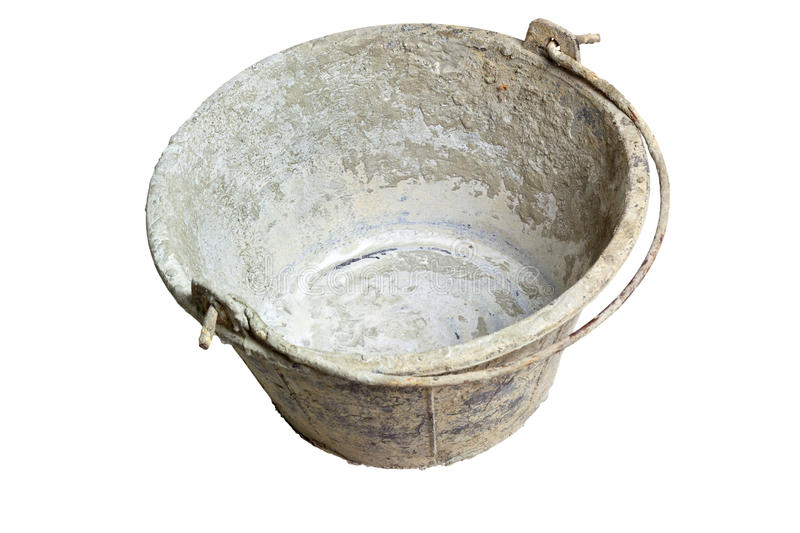 Download Grungy bucket stock image. Image of tool, white, container - 24302245