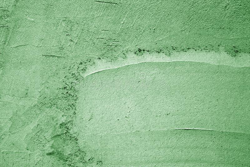 Grungy cementv?ggtextur i gr?n f?rg royaltyfri fotografi