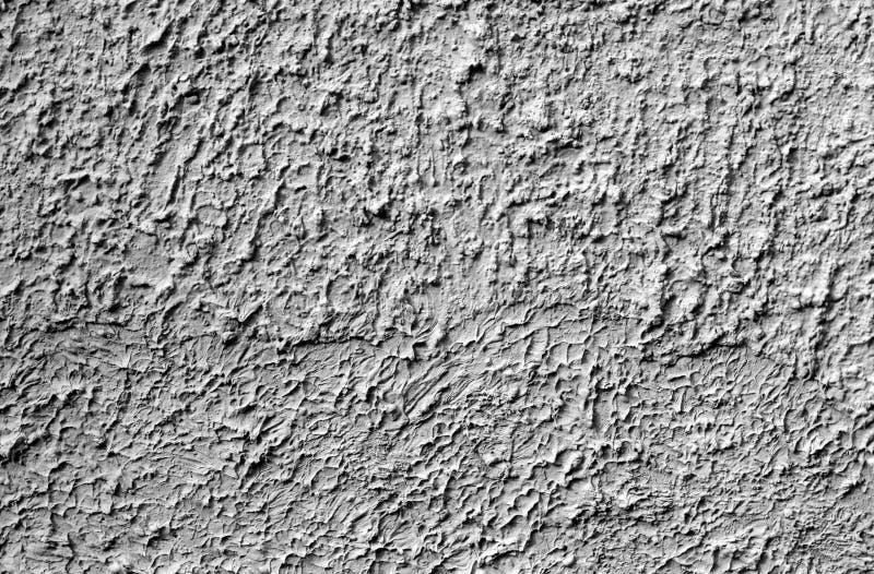 Grungy cementv?ggtextur i svartvitt arkivbild