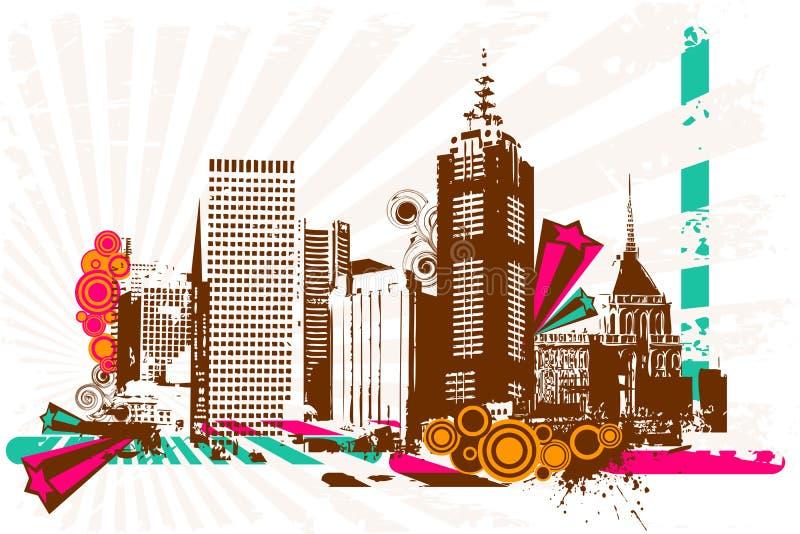 Grungy City royalty free illustration