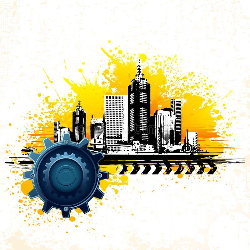 Grungy City stock illustration