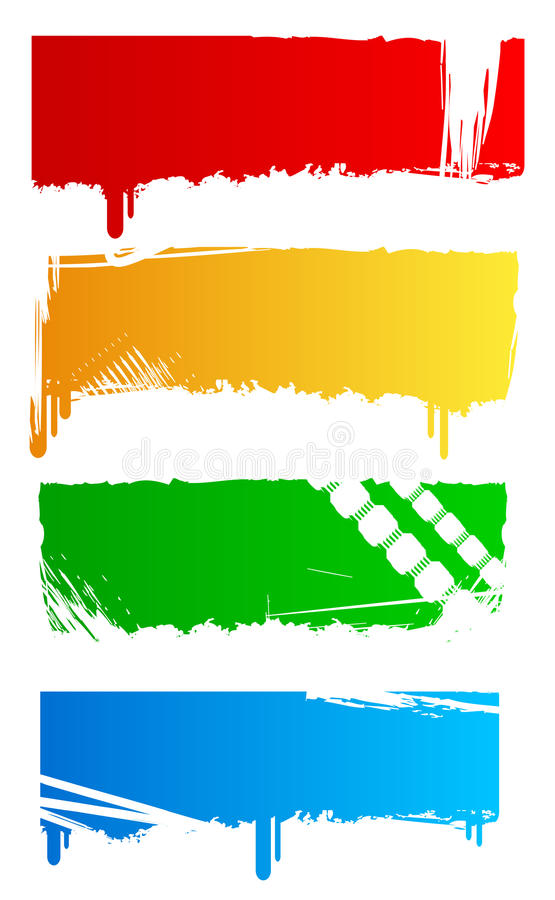 Download Grungy Colored Banners Royalty Free Stock Photography - Image: 10071577