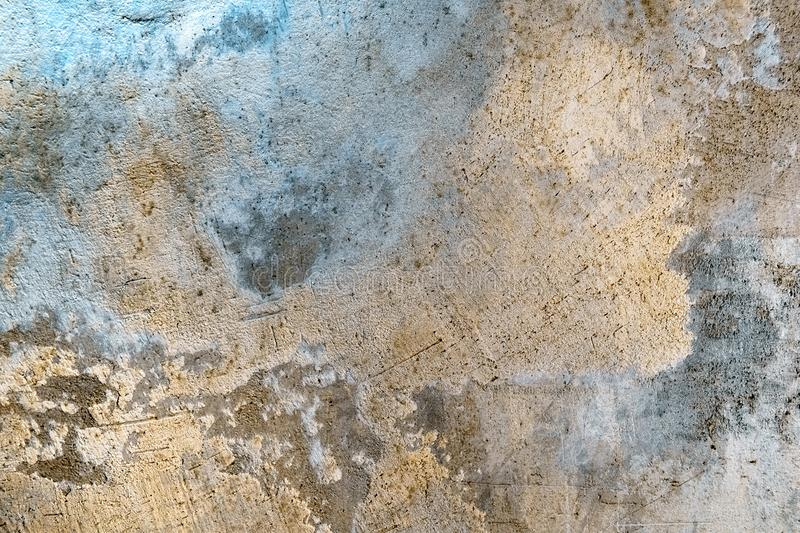 Grungy concrete wall with colorful lighting stock photos
