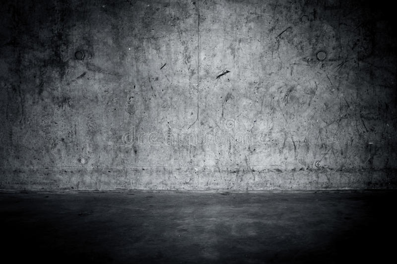 Grungy concrete wall and floor. As background stock image