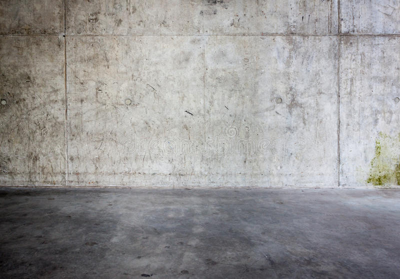 Grungy concrete wall and floor. As background royalty free stock images