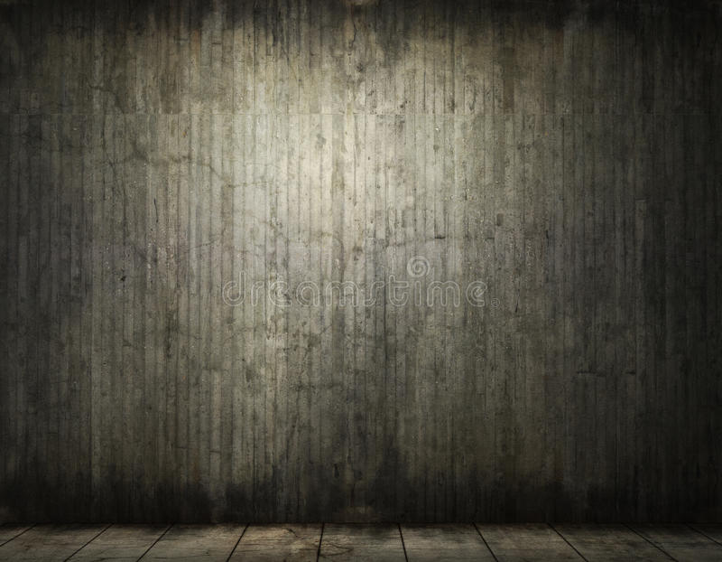 Grungy conrete room background stock image
